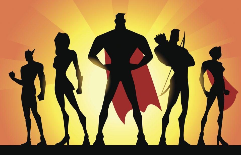 Superhero Team Silhouette for Mobile Bay Anime Festival