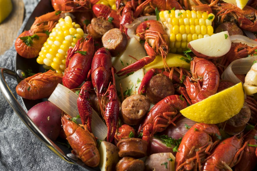 Homemade Southern Crawfish Boil for charity